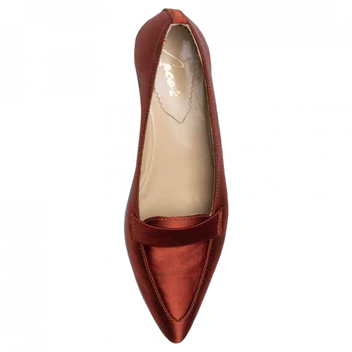 Non Signé / Unsigned \N Orange Cloth Flats for Women 38 EU