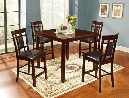 Vernon Collection VE776-5PC 5 Piece Counter Height Pub Set with