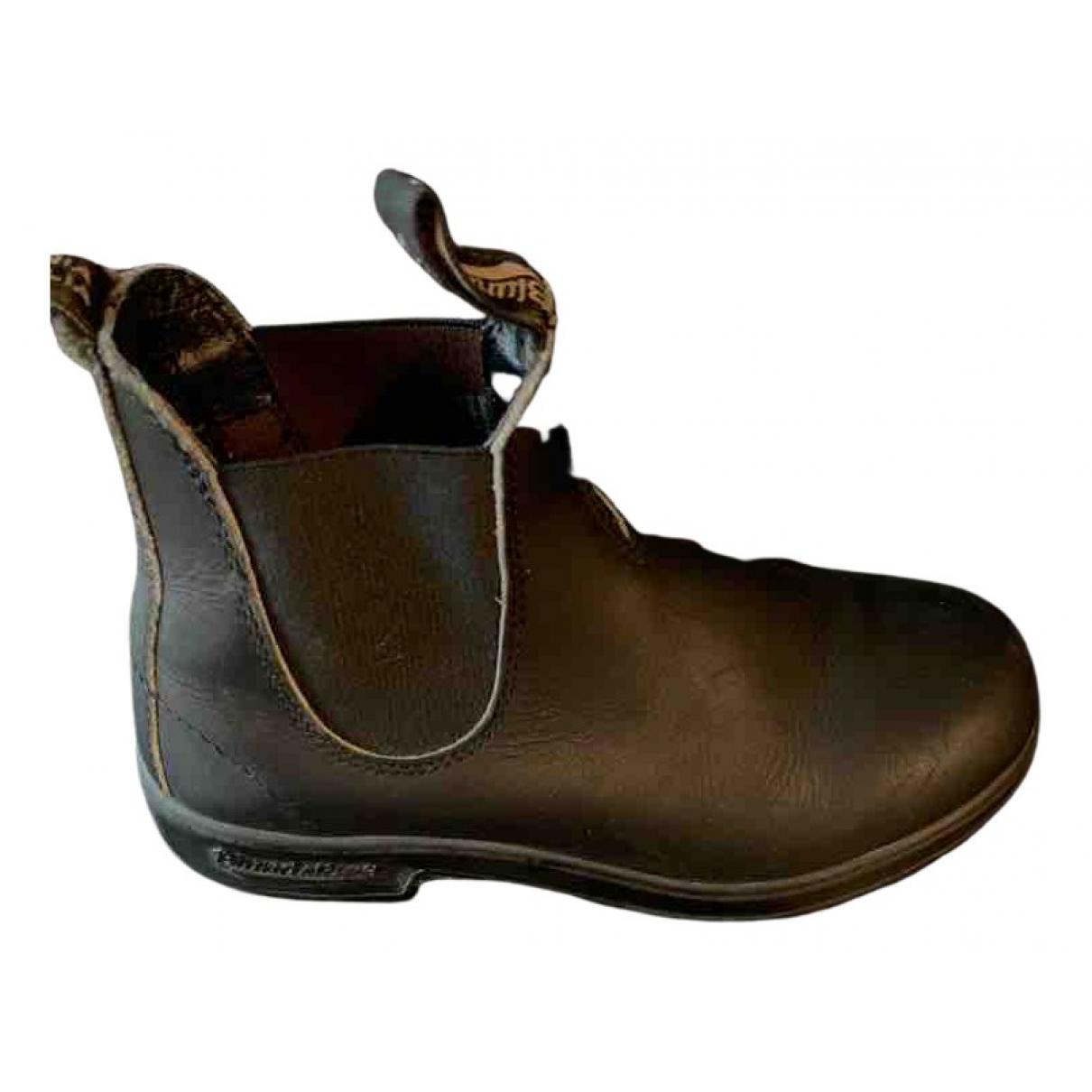 Blundstone - Boots   pour femme en cuir - noir