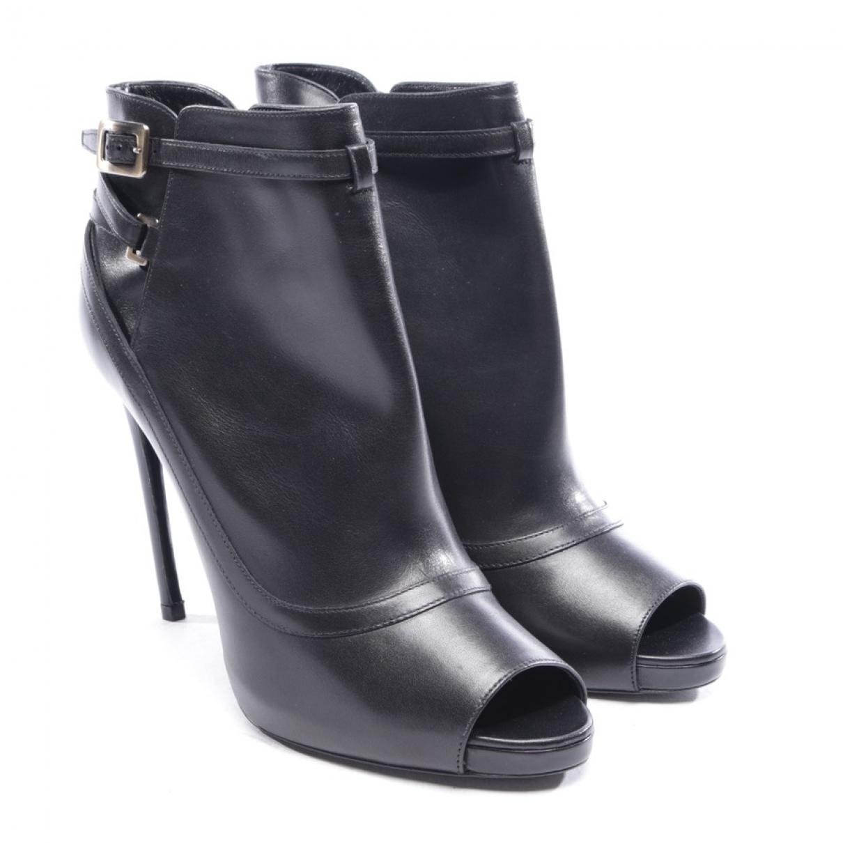 Roger Vivier - Boots   pour femme en cuir - noir