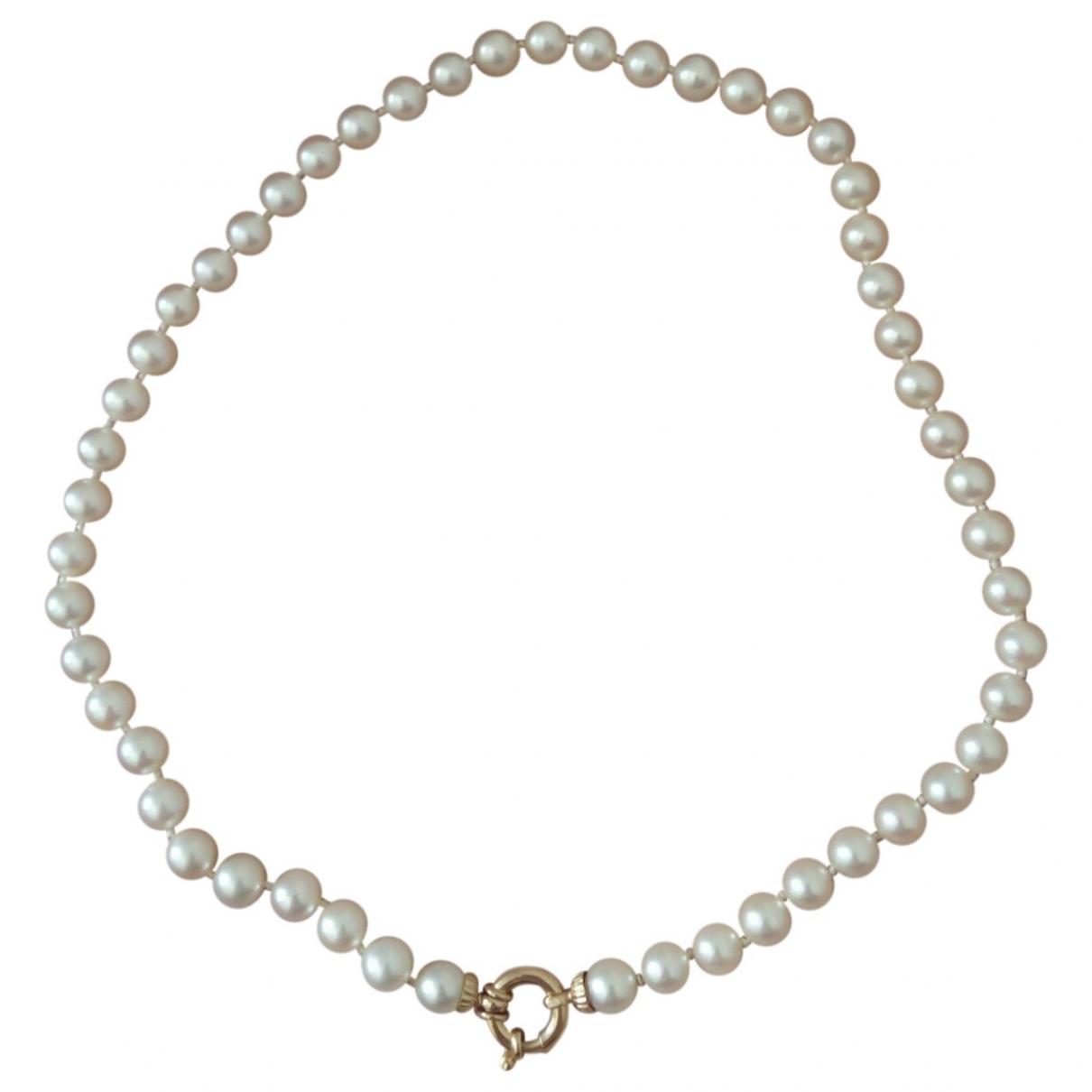 - Collier   pour femme en perles - ecru