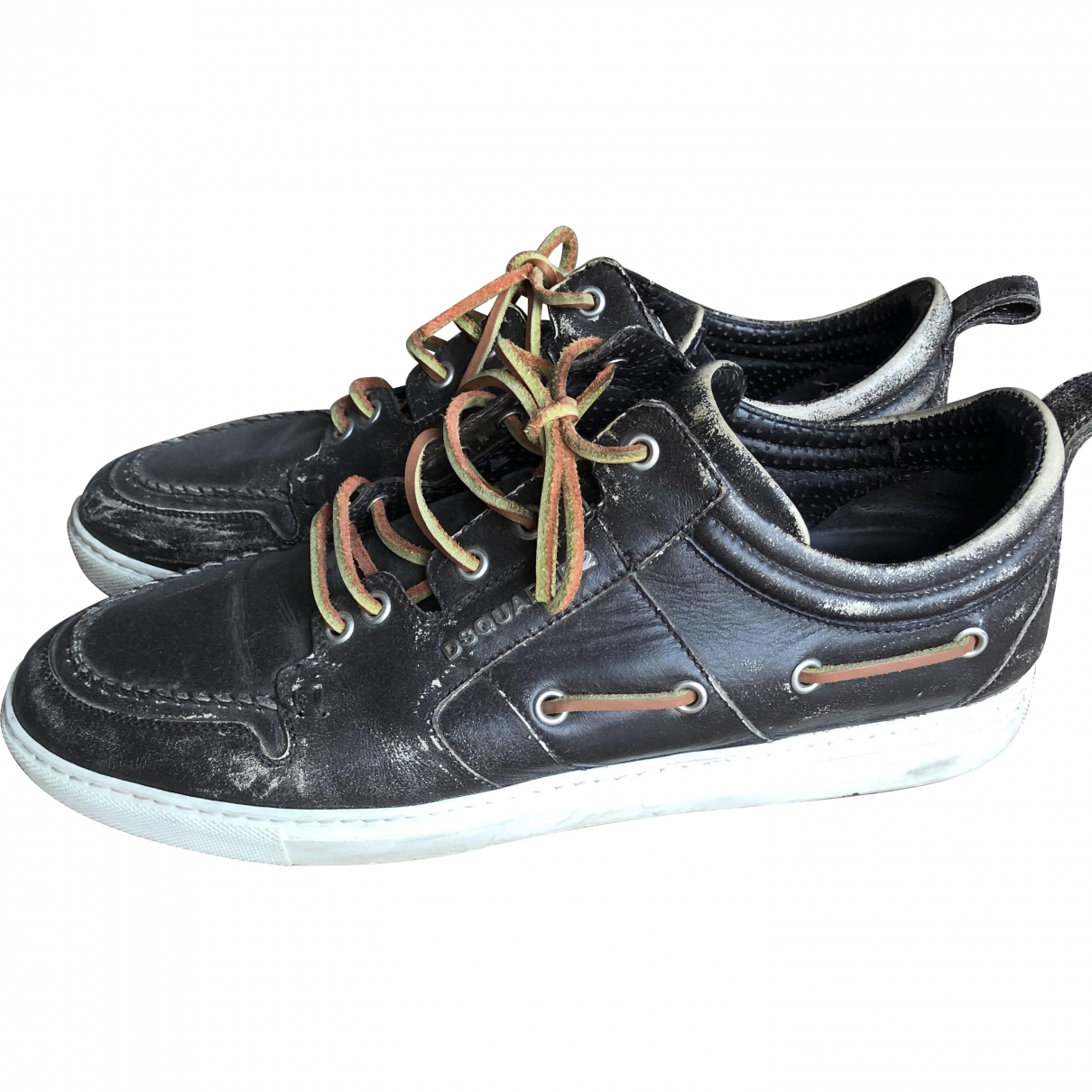 Dsquared2 \N Brown Leather Trainers for Men 44 EU
