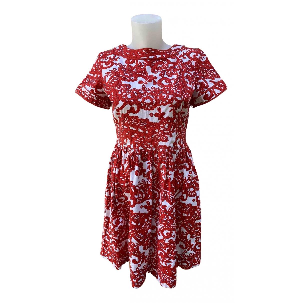 Oscar De La Renta - Robe   pour femme en coton - elasthane - rouge