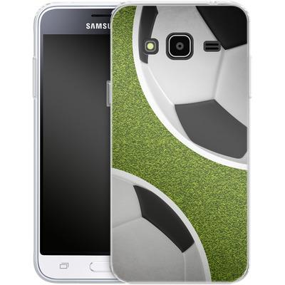 Samsung Galaxy J3 (2016) Silikon Handyhuelle - Two Footballs von caseable Designs