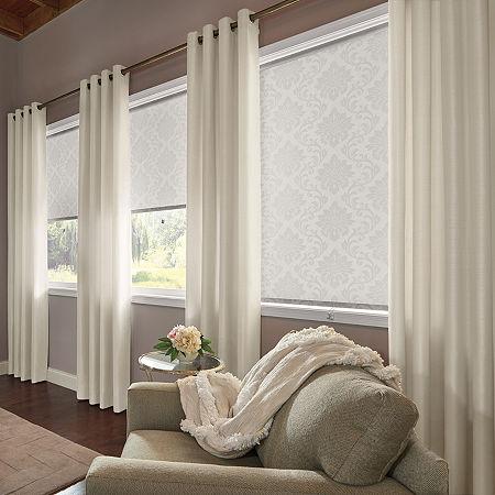 Bali Valencia Custom Light-Filtering Grommet-Top Single Curtain Panel, One Size , White