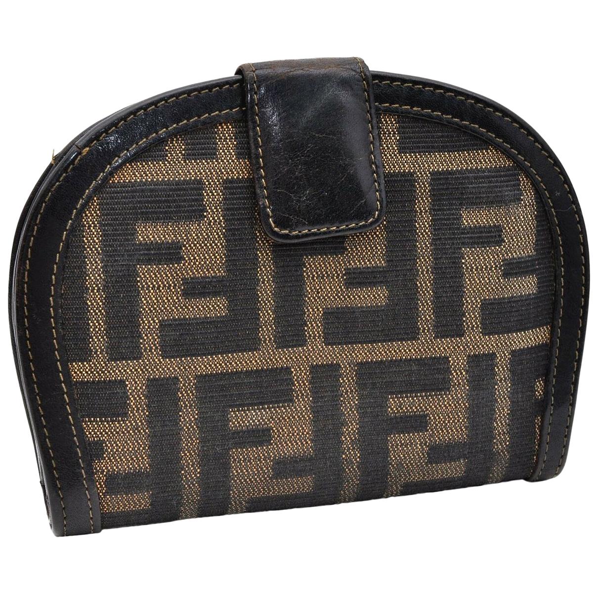 Fendi N Brown Cloth wallet for Women N