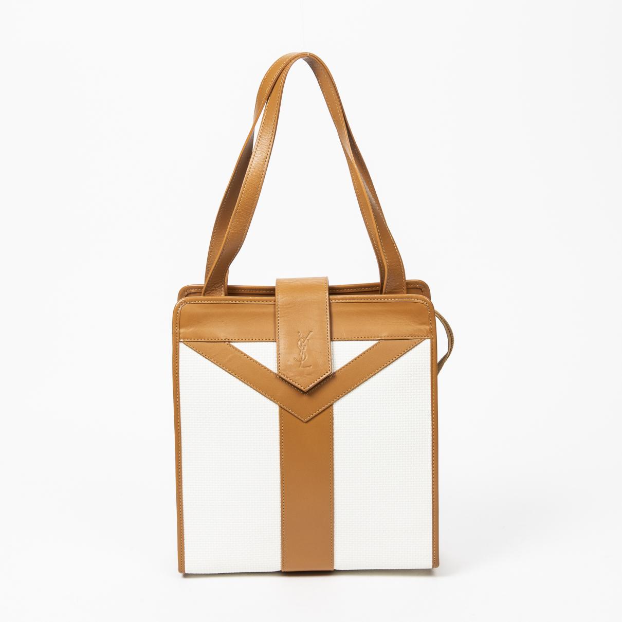 Yves Saint Laurent \N Handtasche in  Weiss Leder
