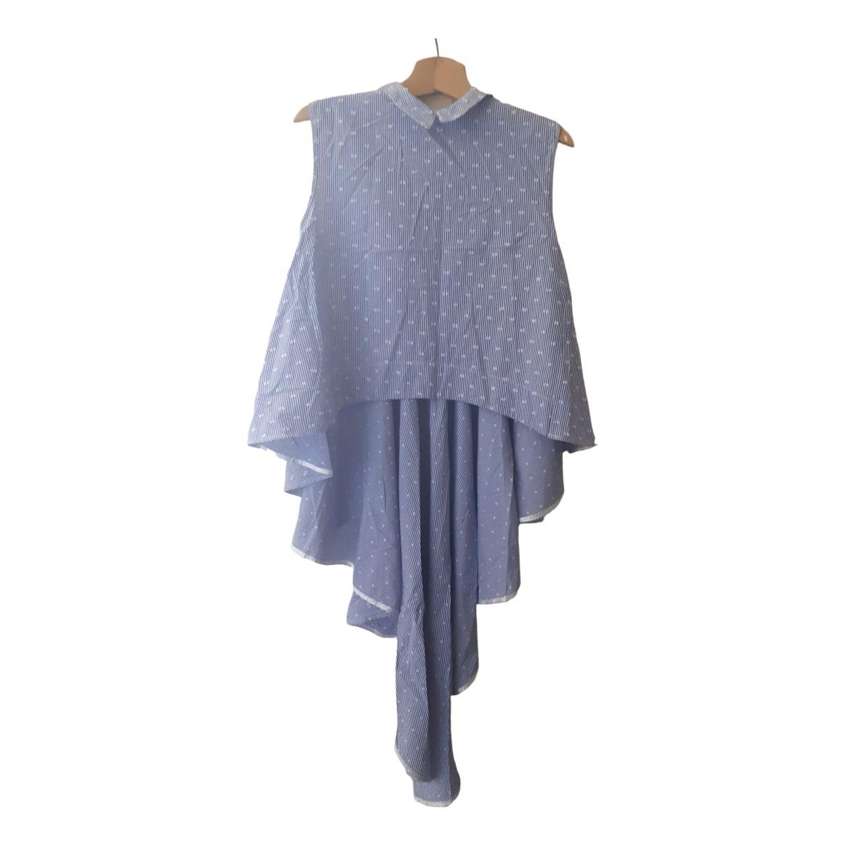 Vicolo - Top   pour femme en coton - bleu
