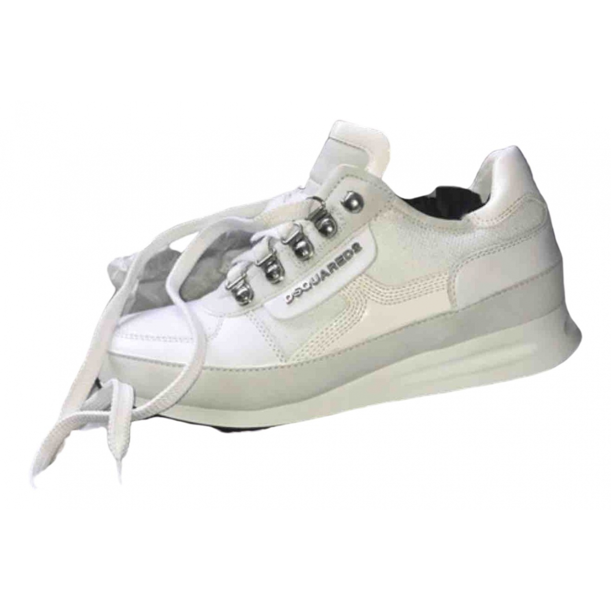 Dsquared2 \N Sneakers in  Weiss Lackleder