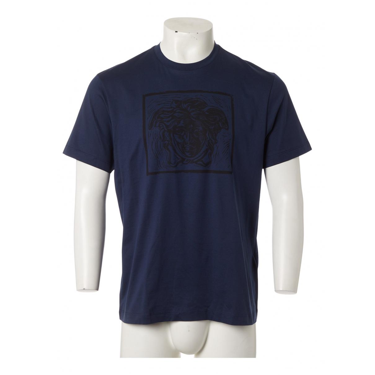 Versace - Tee shirts   pour homme en coton - marine