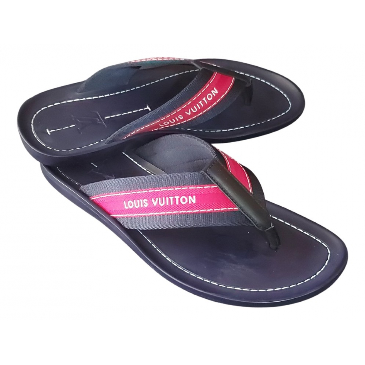 Louis Vuitton \N Sandalen in  Blau Leinen