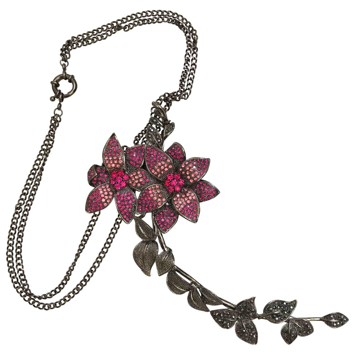 Pinko \N Brosche in  Rosa Metall