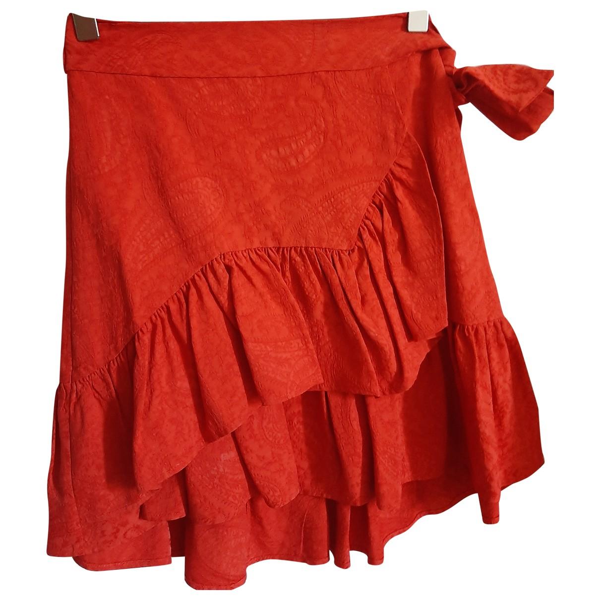 Maje Spring Summer 2019 Red skirt for Women 34 FR