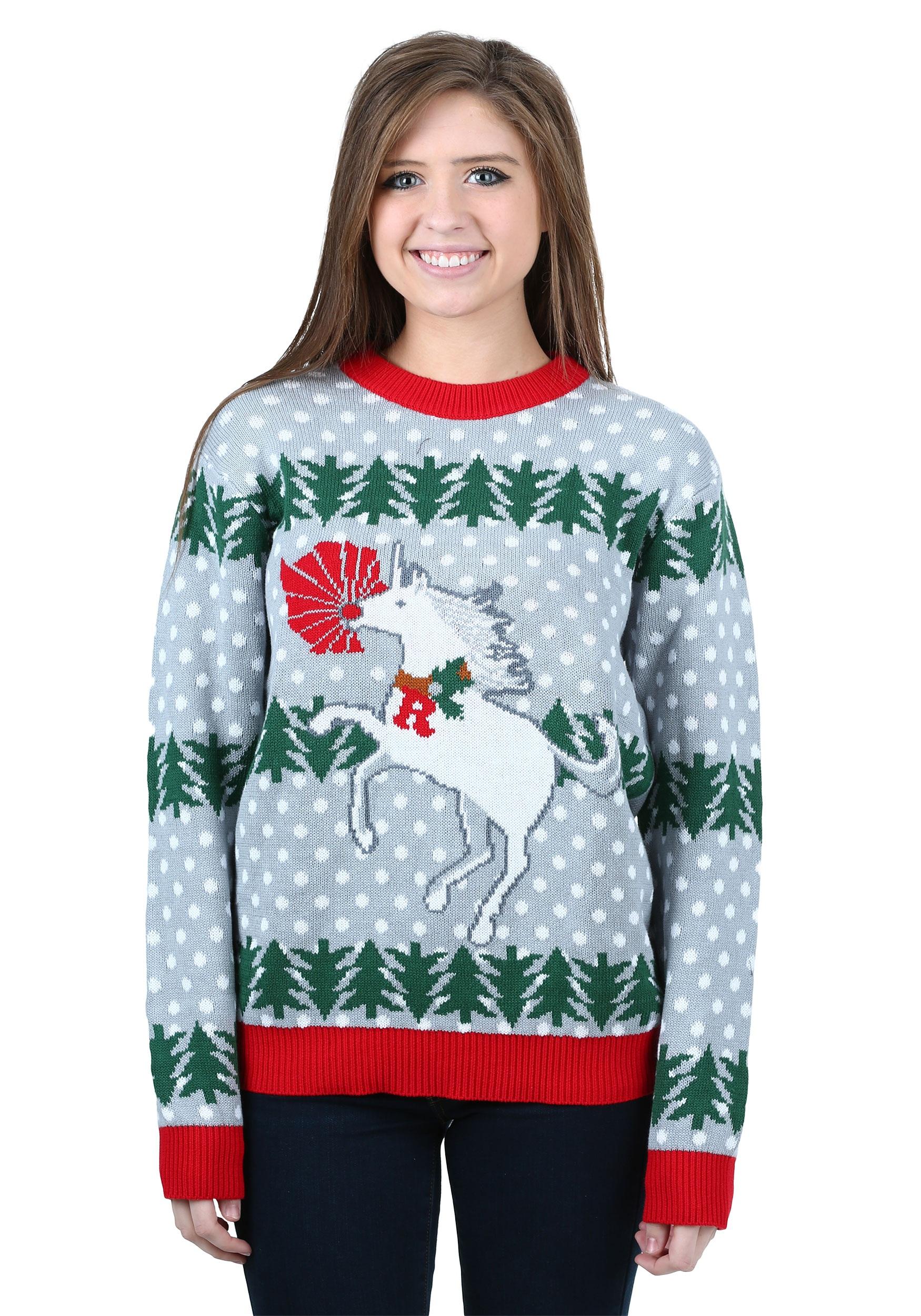 Unicorn Rudolph Ugly Christmas Sweater