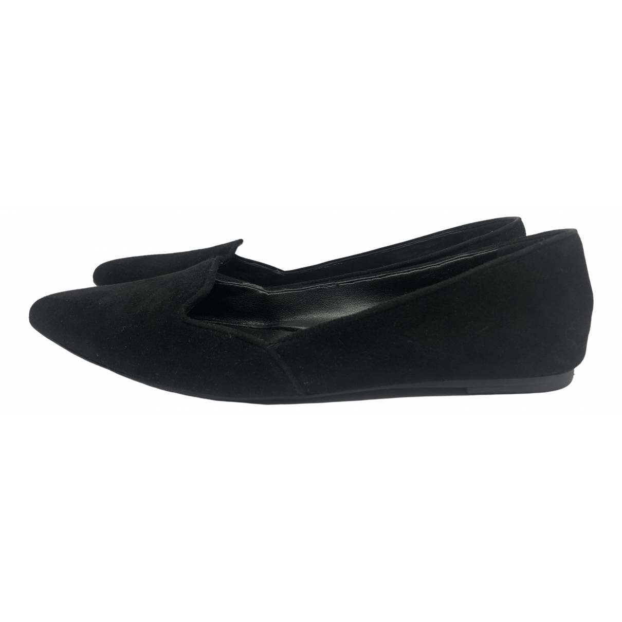 Nine West \N Black Suede Ballet flats for Women 36 EU