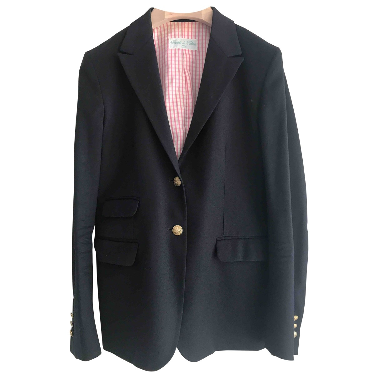 Non Signé / Unsigned \N Blue Wool jacket for Women 44 IT