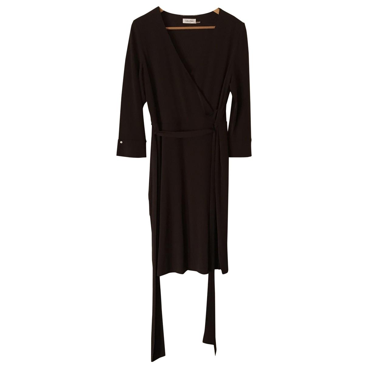 Calvin Klein - Robe   pour femme - marron