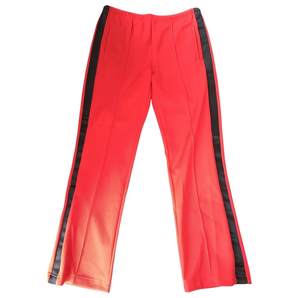 Maison Martin Margiela \N Red Cotton Trousers for Men 48 IT