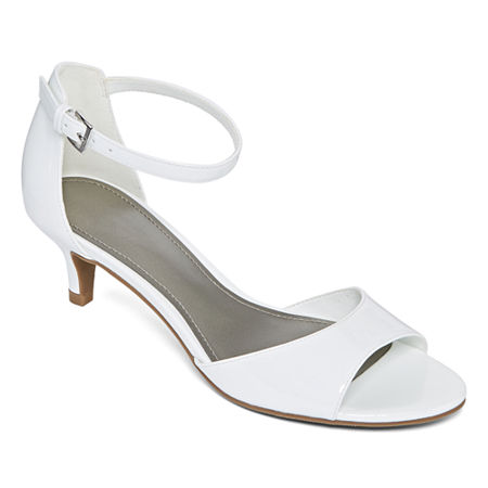 Worthington Womens Garnet Pumps Kitten Heel, 9 Medium, White