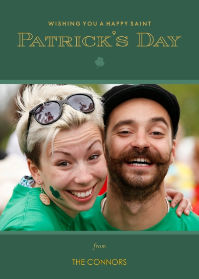 St. Patrick's Day Cards 5x7 Folded Cards, Premium Cardstock 120lb, Card & Stationery -Go for the Green