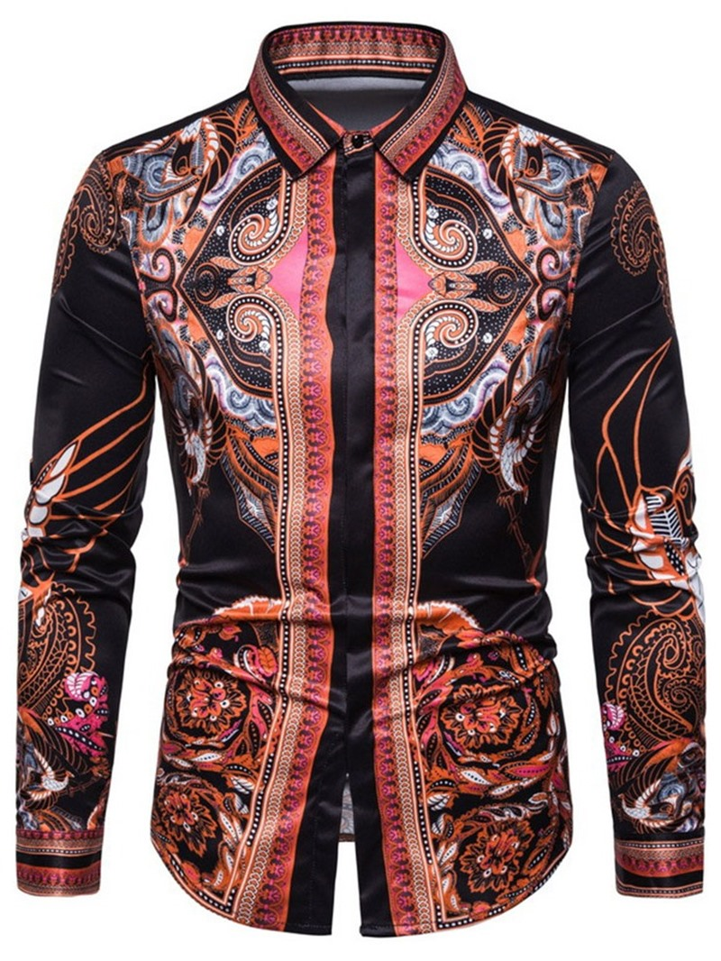 Ericdress African Fashion Dashiki Slim Mens Single-Breasted Shirt