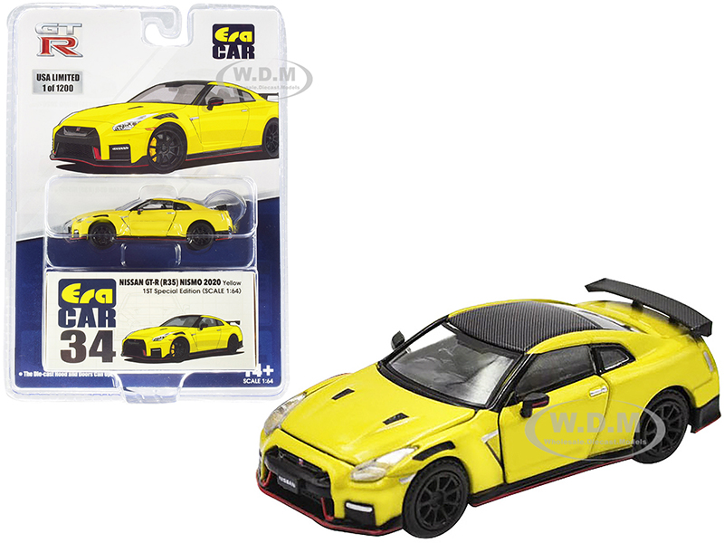 2020 Nissan GT-R (R35) Nismo RHD (Right Hand Drive) Yellow with Carbon Top Limited Edition to 1200 pieces