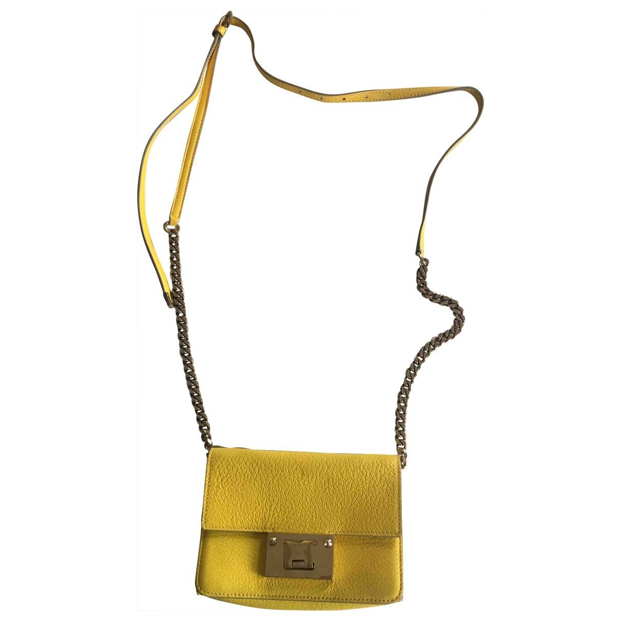 Jimmy Choo \N Handtasche in  Gelb Leder