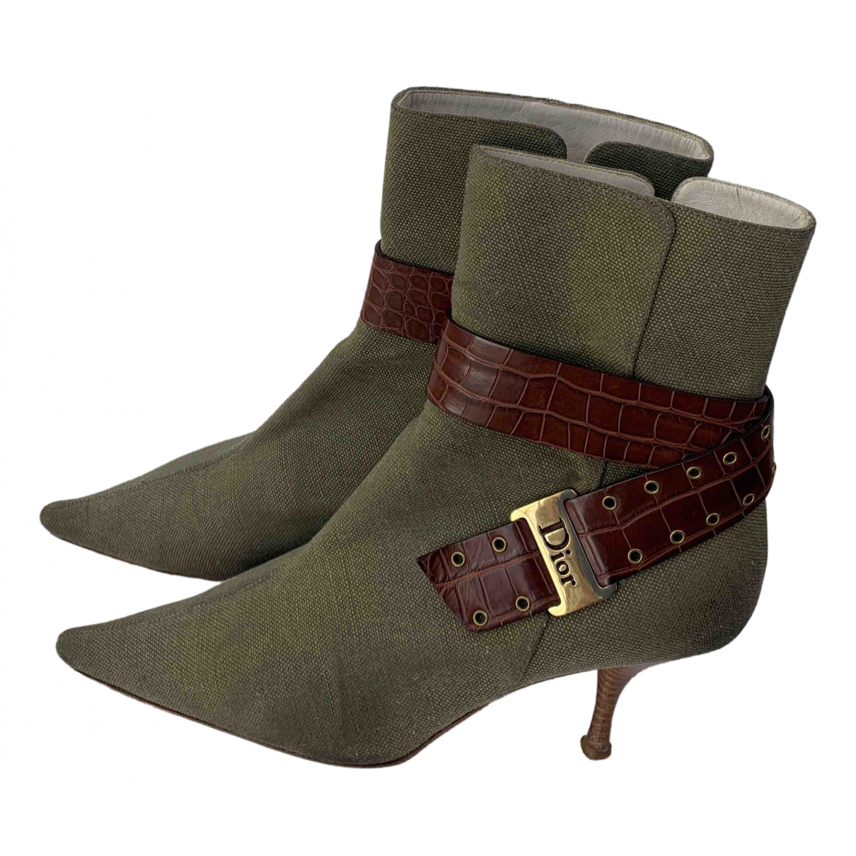 Dior \N Green Cloth Ankle boots for Women 40 EU