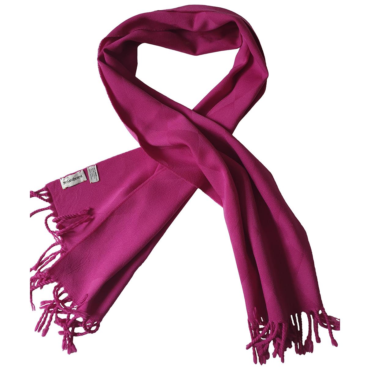 Yves Saint Laurent \N Purple Wool scarf for Women \N