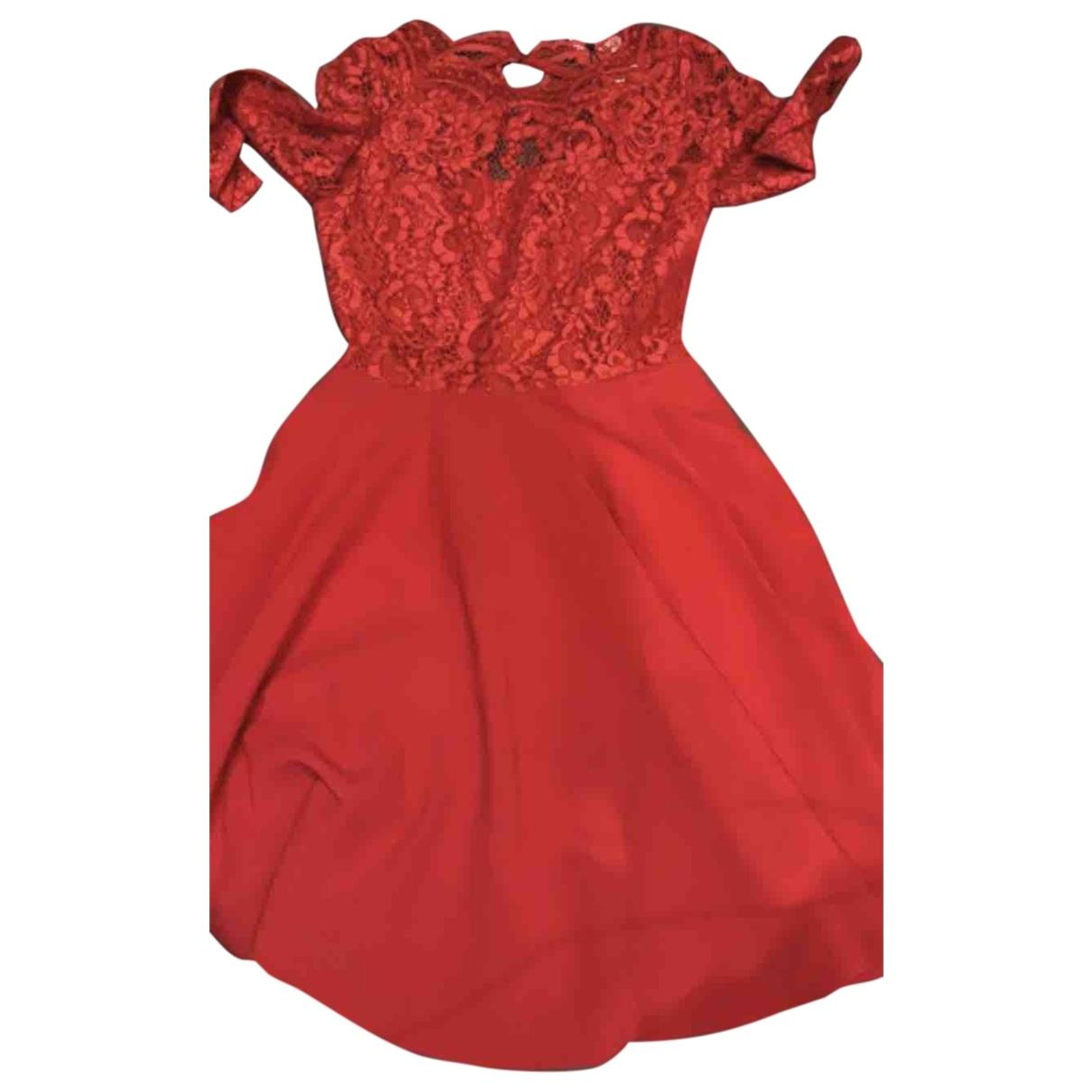 Claudie Pierlot \N Kleid in  Rot Spitze