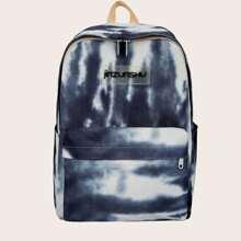 Rucksack mit Batik und Taschen vorn