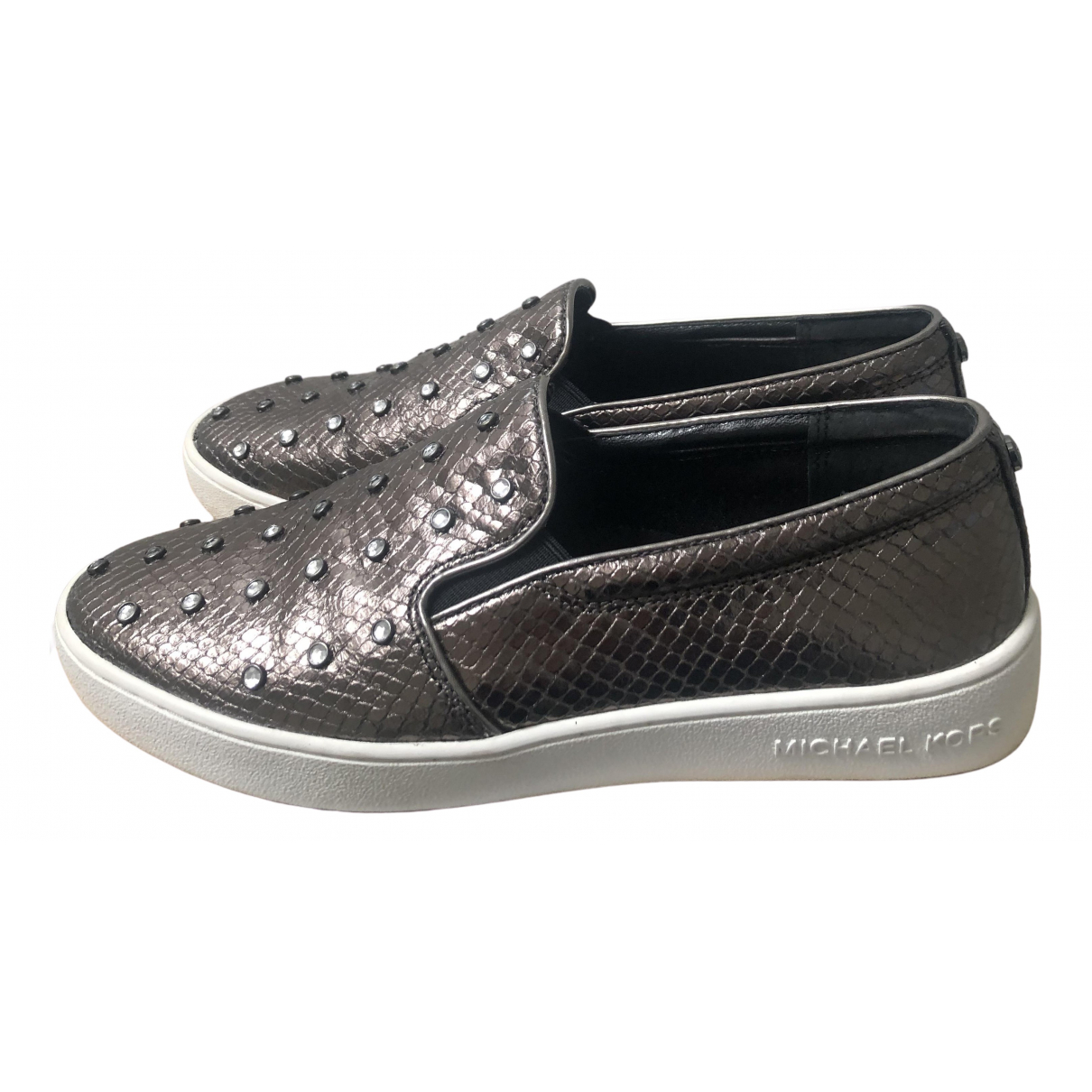 Michael Kors N Metallic Leather Trainers for Women 6.5 US
