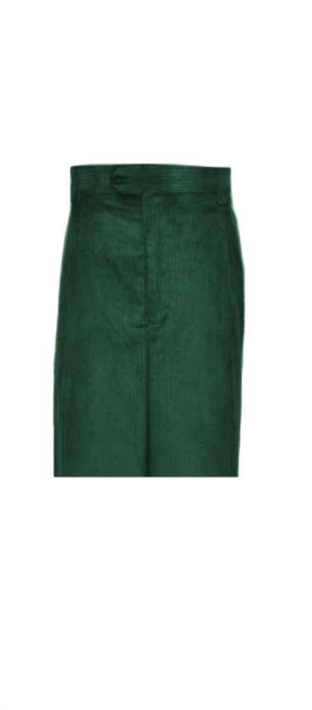 Corduroy Olive Wide Whale Cord Pants Slacks For Men