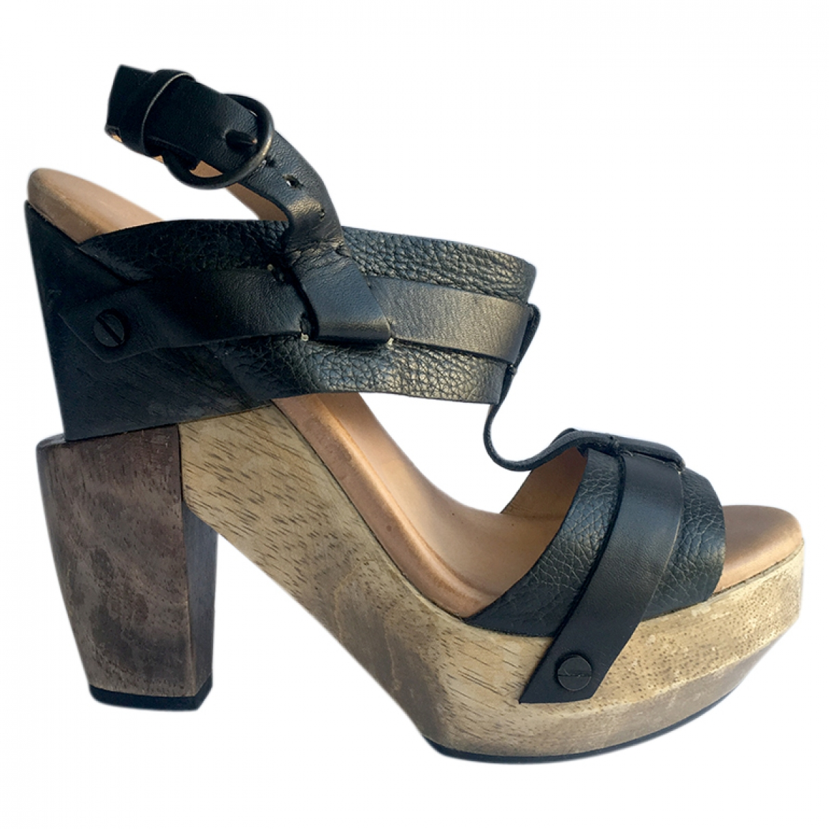 All Saints \N Sandalen in  Schwarz Leder