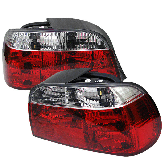 Spyder Auto ALT-YD-BE3895-RC Red Clear Crystal Taillights BMW E38 730i 95-96