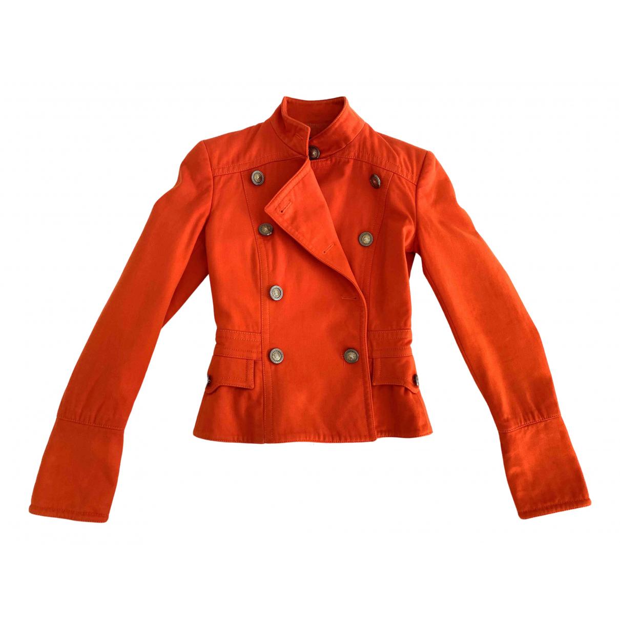 Versus - Veste   pour femme en coton - orange
