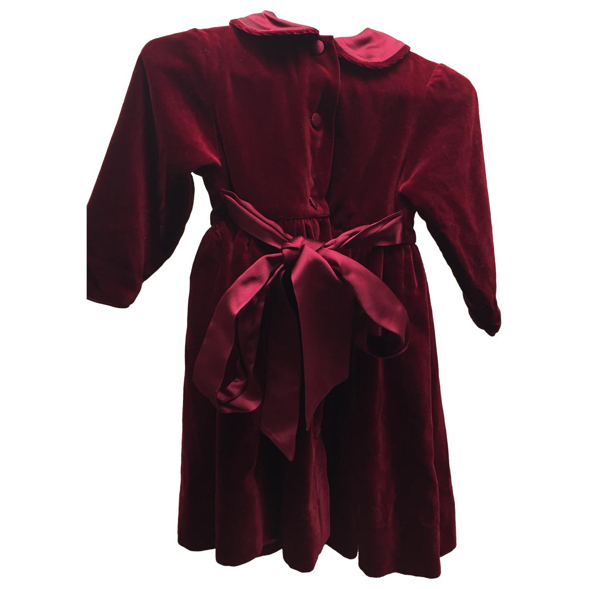 Baby Dior \N Kleid in  Bordeauxrot Samt
