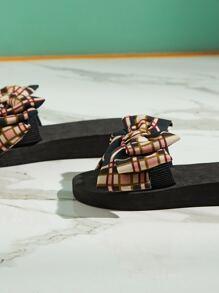 Plaid Bow Decor Sliders