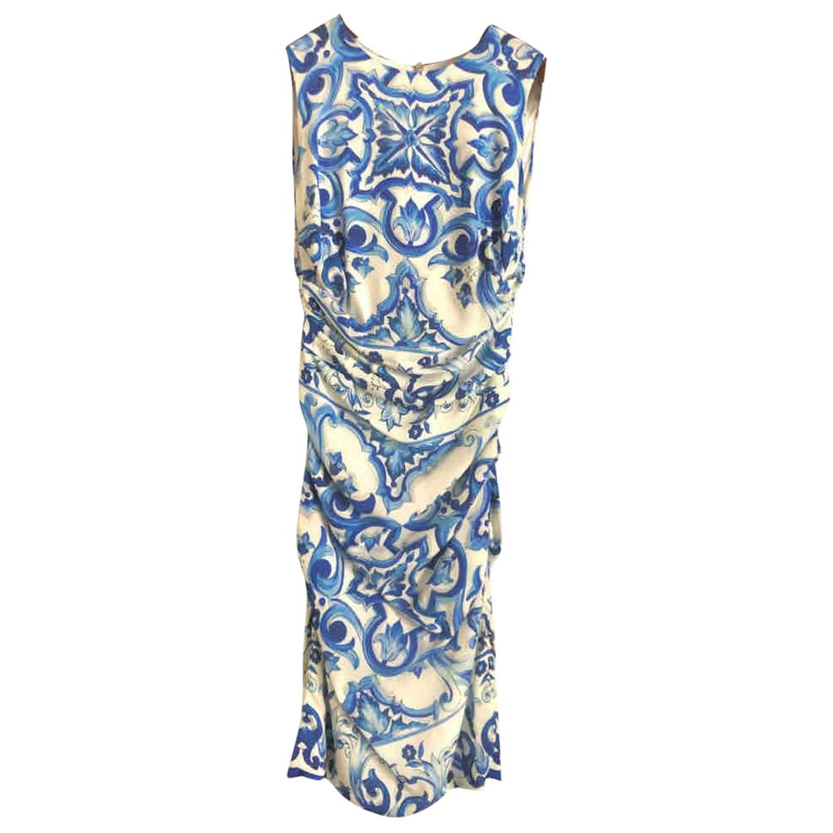 Dolce & Gabbana N Blue Silk dress for Women 40 IT