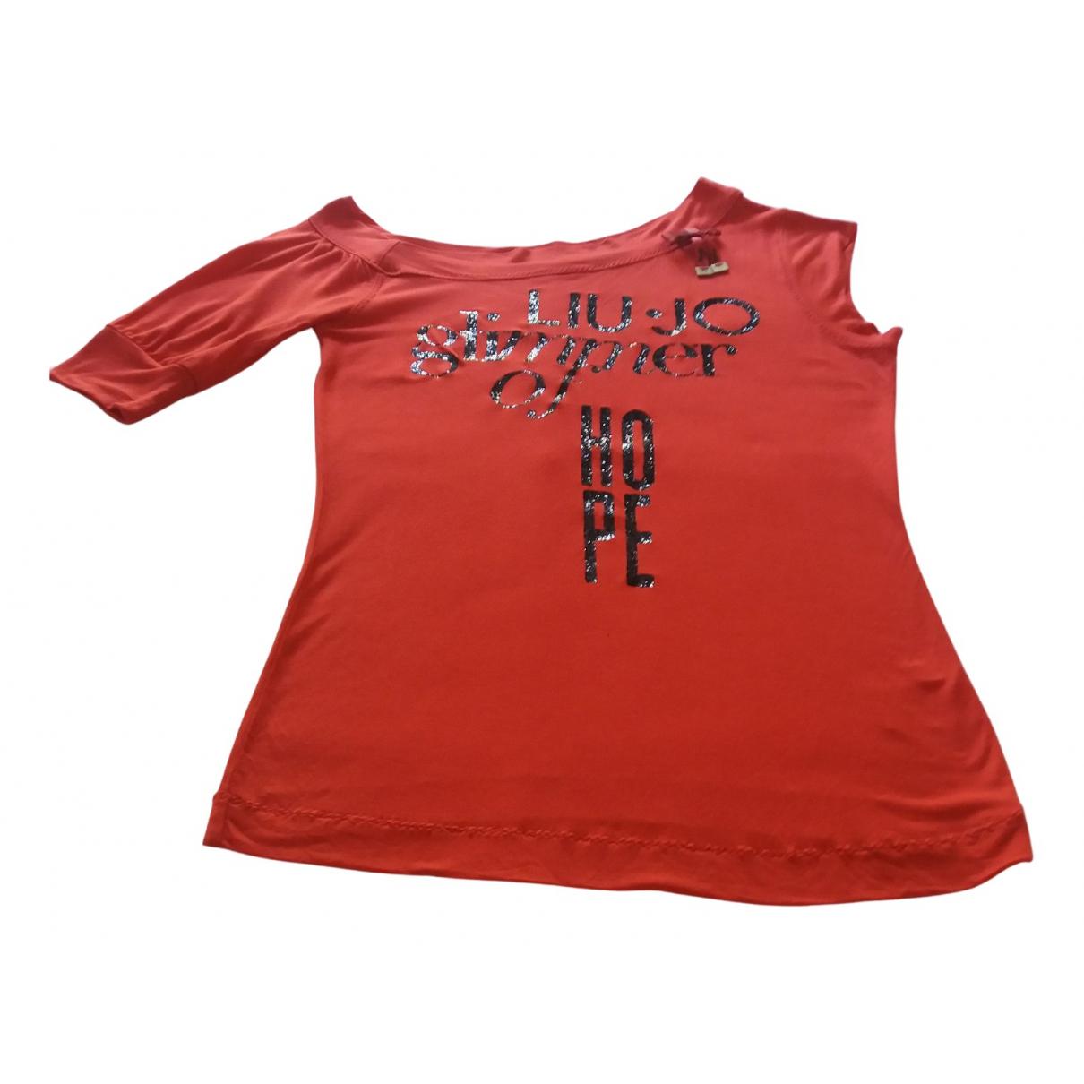 Liu.jo N Red Cotton  top for Women 42 IT
