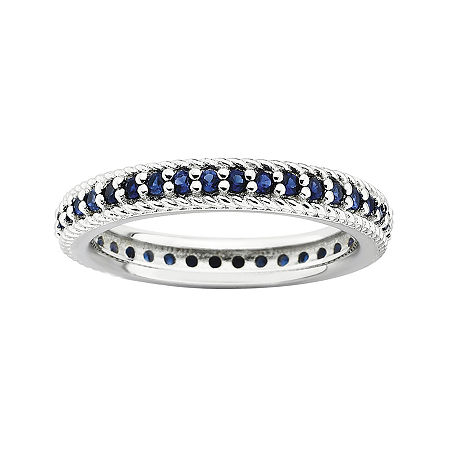 Personally Stackable Lab-Created Blue Sapphire Eternity Ring, 9 , No Color Family