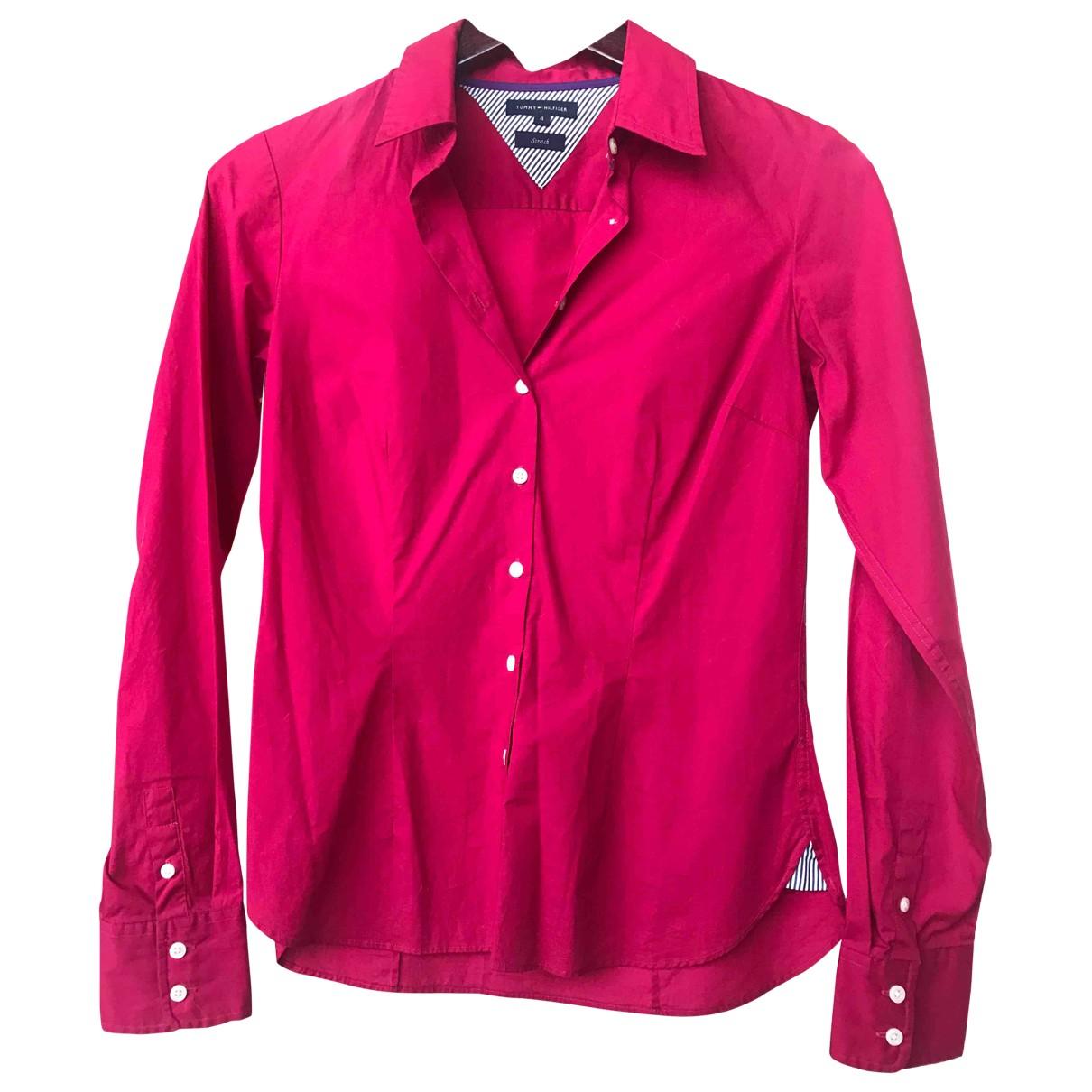 Tommy Hilfiger - Top   pour femme en coton - bordeaux