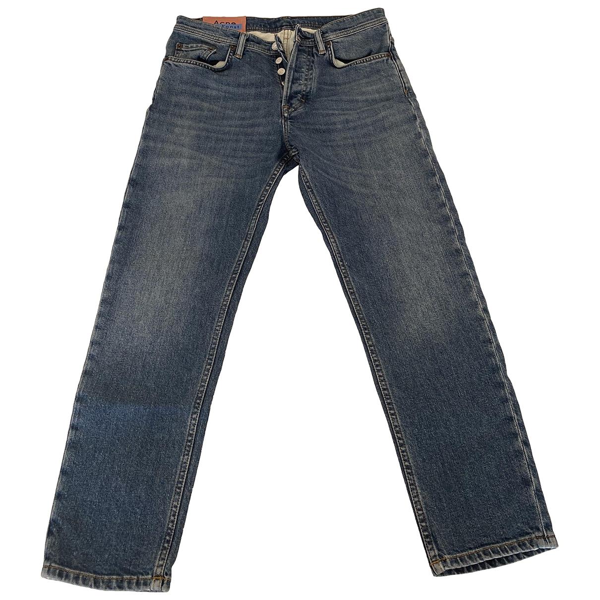 Acne Studios \N Black Cotton - elasthane Jeans for Men 28 US