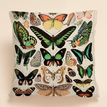 Butterfly Print Cushion Cover Without Filler