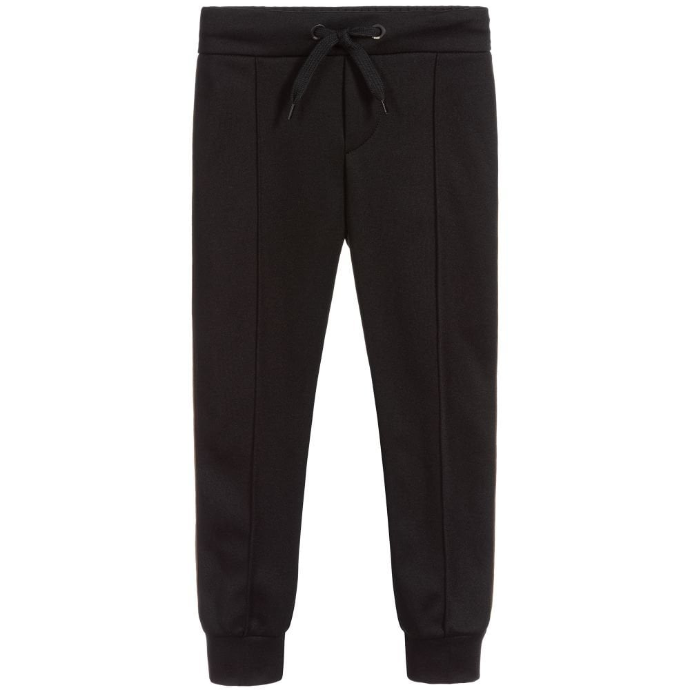 Fendi Side Tape Logo Joggers Colour: BLACK, Size: 10 YEARS