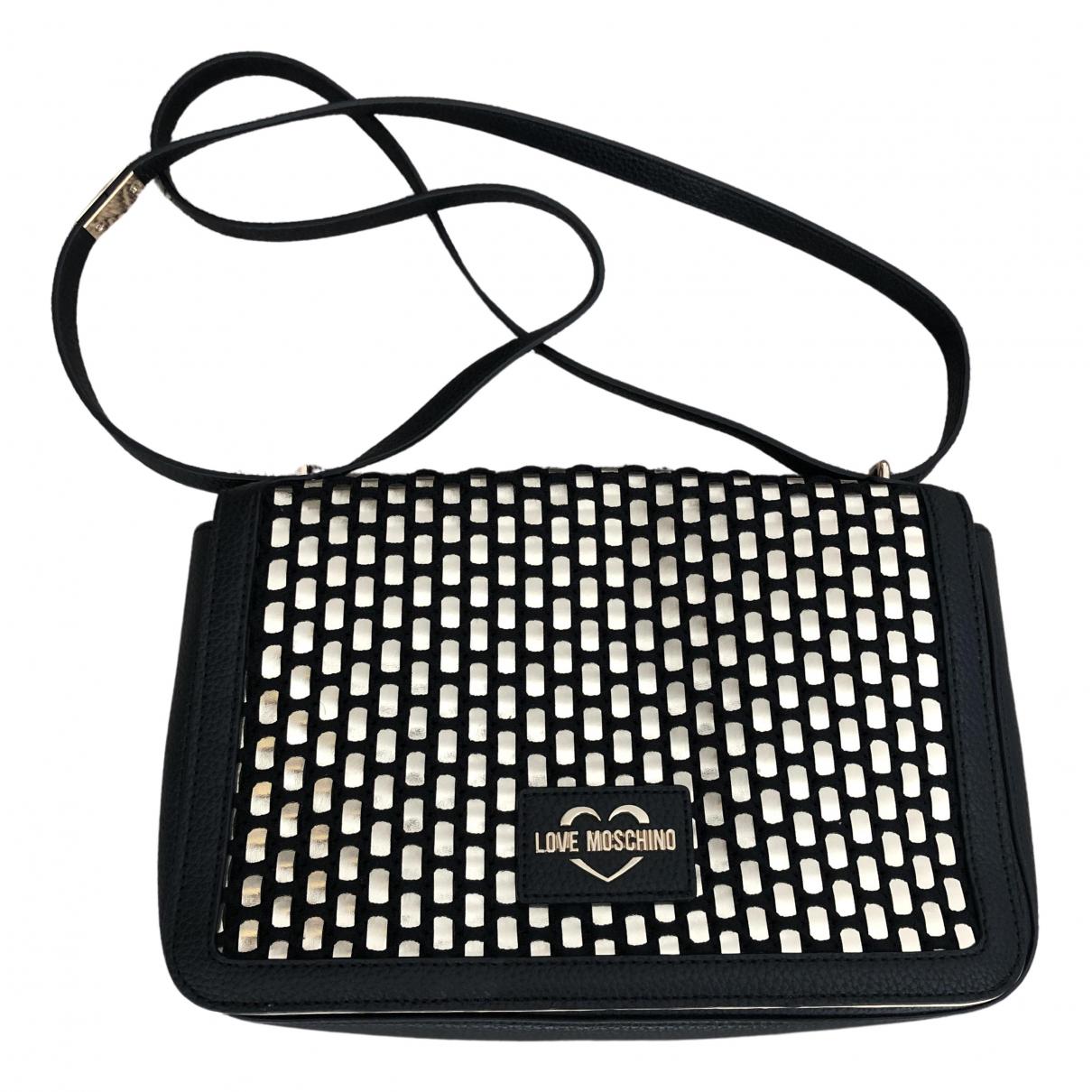 Moschino Love \N Handtasche in  Schwarz Synthetikpelz