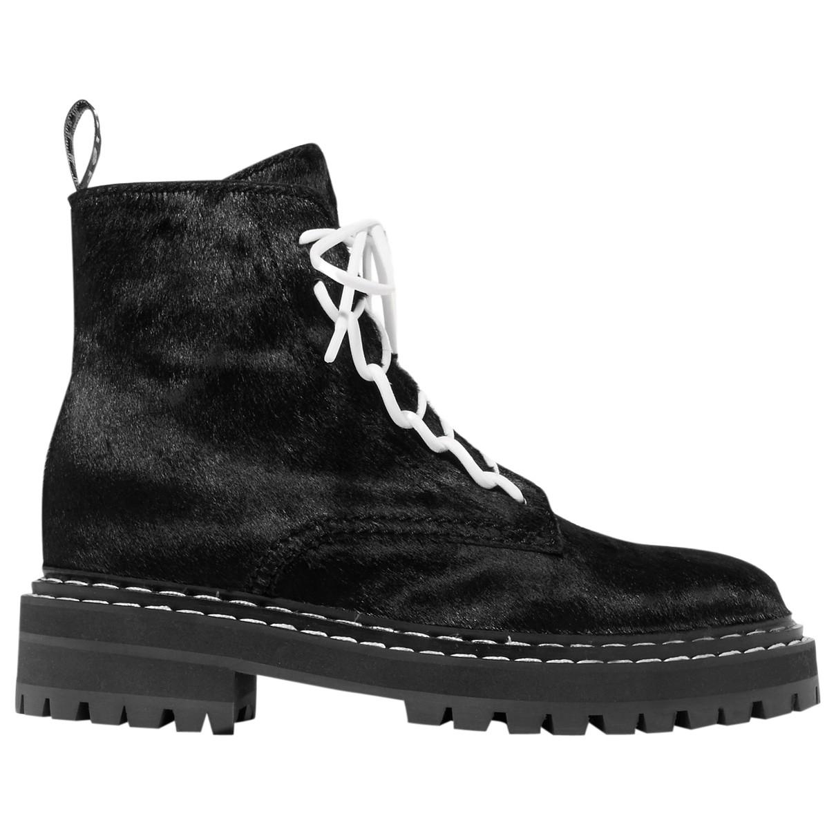 Proenza Schouler \N Black Fur Boots for Women 38 EU