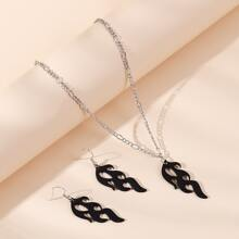 3pcs Fire Decor Jewelry Set