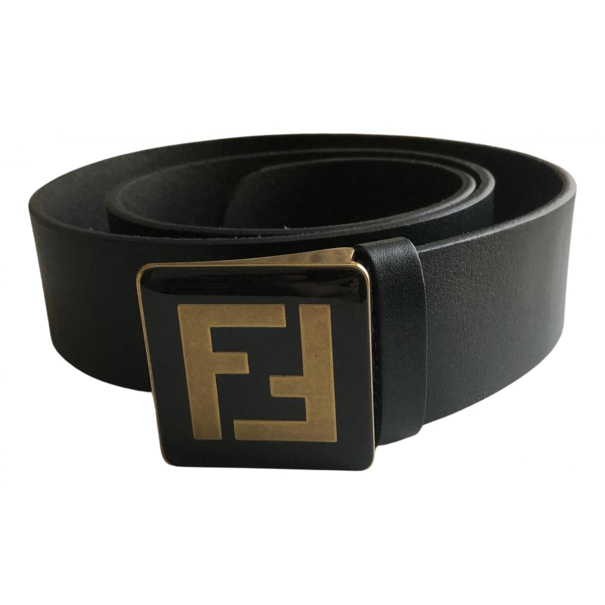 Fendi N Blue Leather belt for Women L International