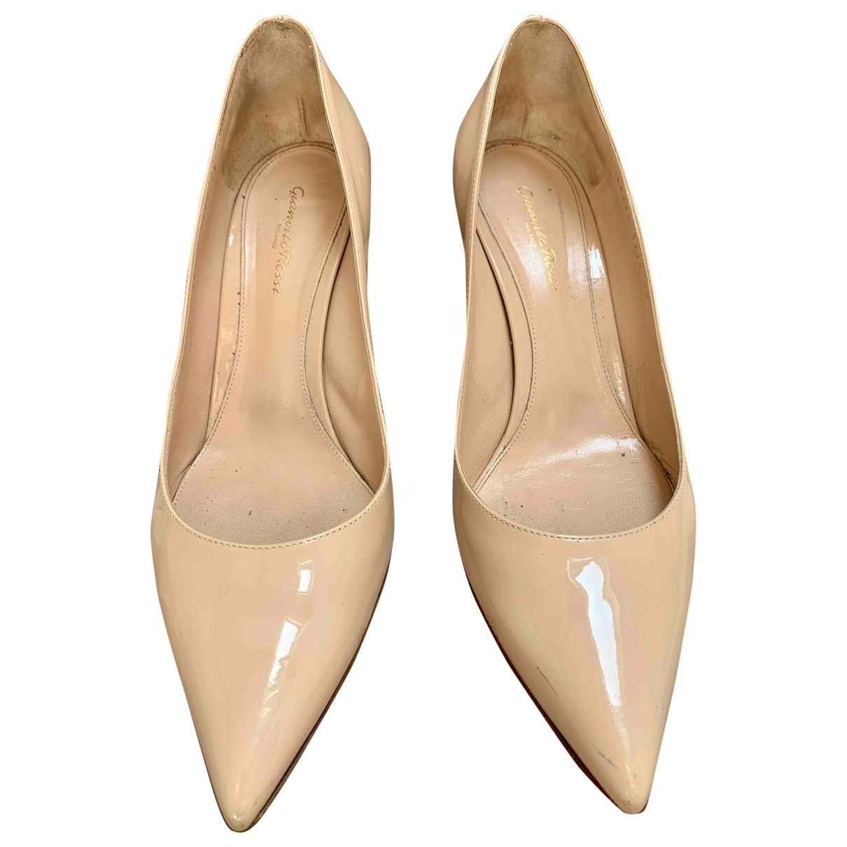 Gianvito Rossi Gianvito Beige Patent leather Heels for Women 42 EU